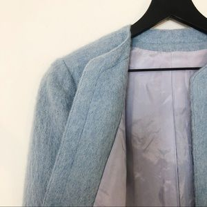 Vintage Denise Collection Blue Mohair Blazer